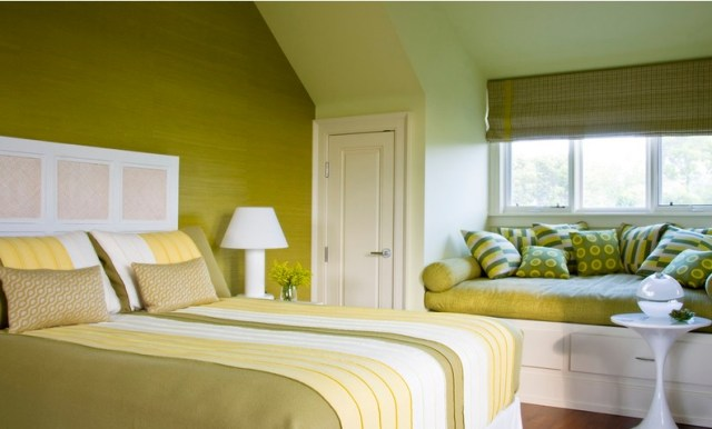 Yellow and White for Master Bedroom with Various Interest Colors