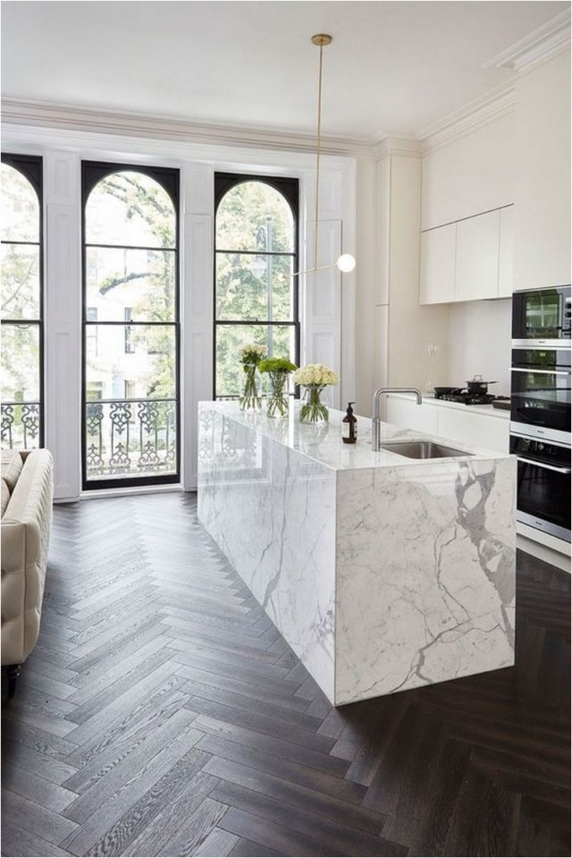 Minimalist And Luxury Kitchen With Living Room Ideas