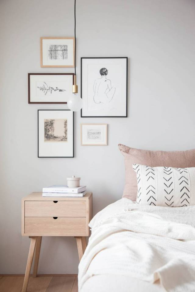 Photo Frame for Designing Korean Style Minimalist Bedroom