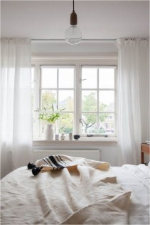 Classic Window Sill With White Curtains