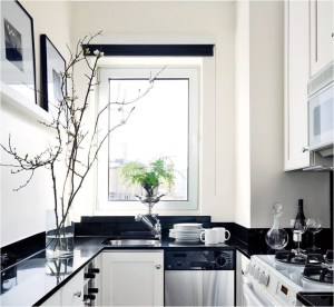 Elegant Small Kitchen Ideas With Black And White Combinations