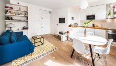 Fused with the Family Room for Charming Small Kitchen Design