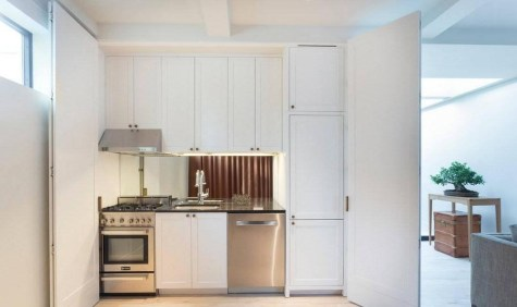 Mesh Panel for Charming Small Kitchen Design