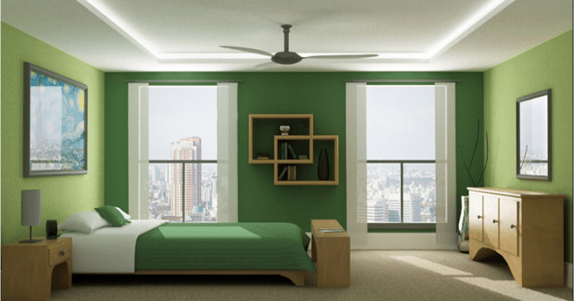 Monochromatic for Green Bedrooms Inspiration