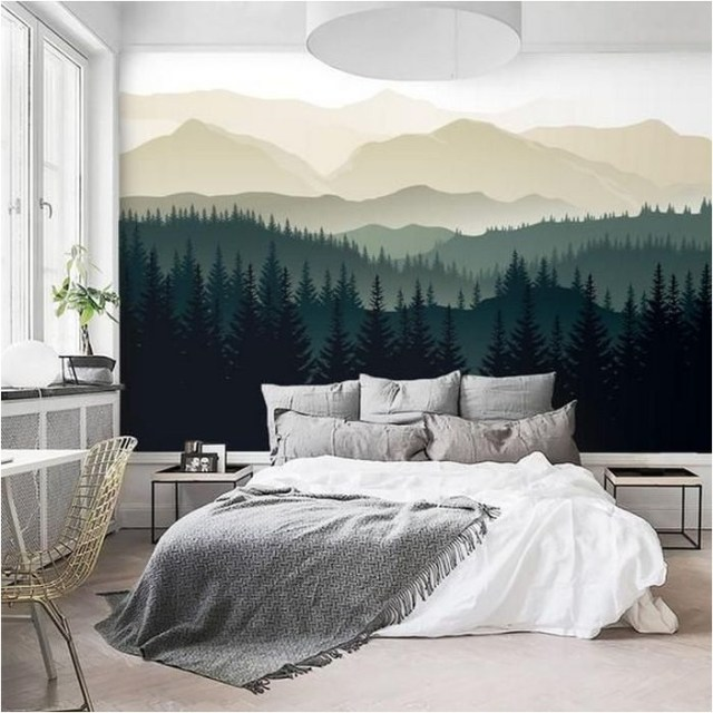 Mural Forest Green Bedroom Decorations