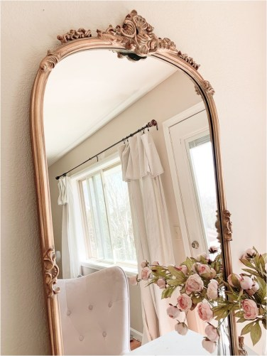 A Pretty Rose Gold Mirror The Bedroom