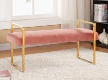Bench for Millennial Pink Style Bedroom Design