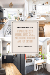 Change The 2x3 Meters Sized Small Kitchen With Unique And Fun Designs