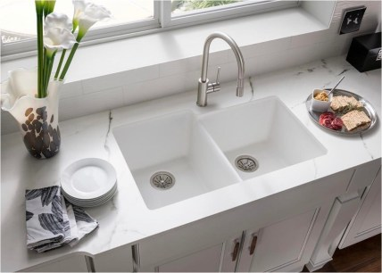 Clean Kitchen With Marble Ideas