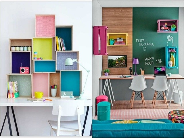 Colorful for Various Unique Study Desk