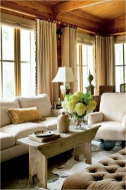 Light Brown Curtain For Living Room Farmhouse