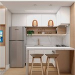 Small Kitchen With Floor And Wall Wood
