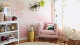 Sofa for Millennial Pink Style Bedroom Design