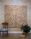 Wood Art With Exposed Brick Wall
