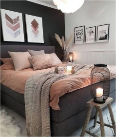 Deep Grey And Terracota Bedroom Color Ideas