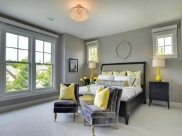 Primary Color for Bedrooms with an Amazing Half and Half Color Combination