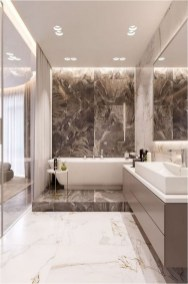 Dim Lamp And LED Lightning To Make Luxury Bathroom