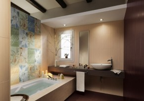 Dim for Stunning Lighting in Modern Minimalist Bathroom