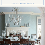 Dining Room With All Blue Theme, Bring A Tranquility While Eat With The Family
