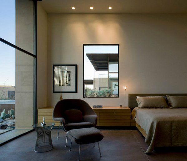 Large Window for Men's Bedroom Design with Contemporary Masculine Style