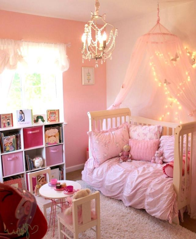 Soft Pink for Girls' Bedroom with Fairytale Theme
