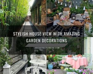Stylish House View With Amazing Garden Decorations