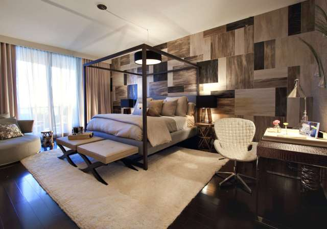 The Stunning Wall for Men's Bedroom Design with Contemporary Masculine Style