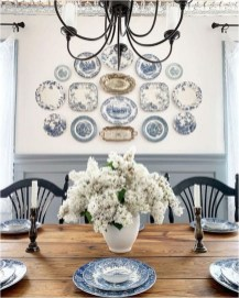 Vintage Dining Room With Vintage Plates Decorations