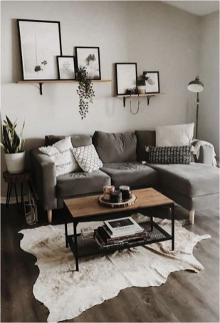 Fall Grey Living Room Apartment Ideas
