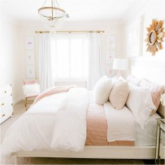 Soft Color Bedroom For Teenage With Large Bed
