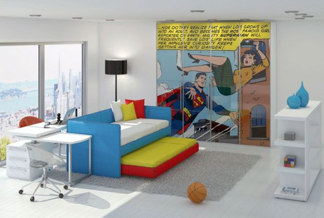 Superman for Various Unique Designs for Boys' Bedrooms