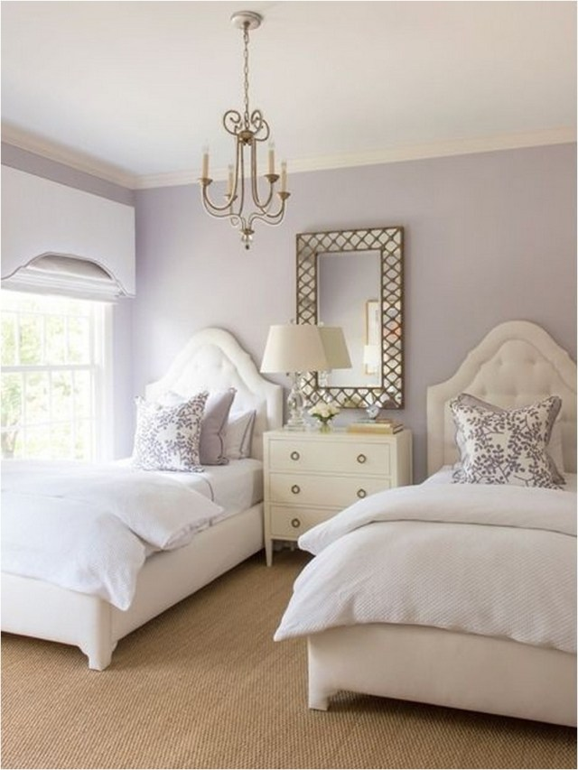 Princess Style With Lavender Color For Girl Bedroom
