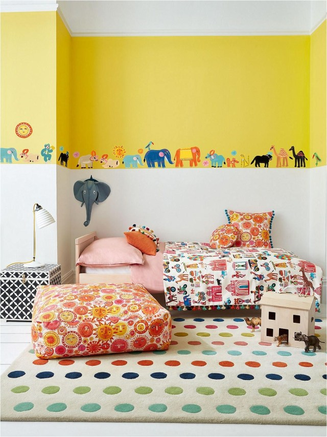 Yellow Color Combinations For Kids Bedroom