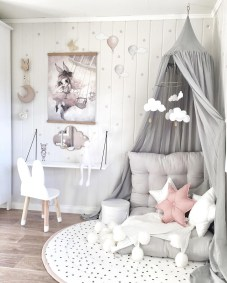 Beautiful Pastel Girls Room Ideas, Pink And Grey