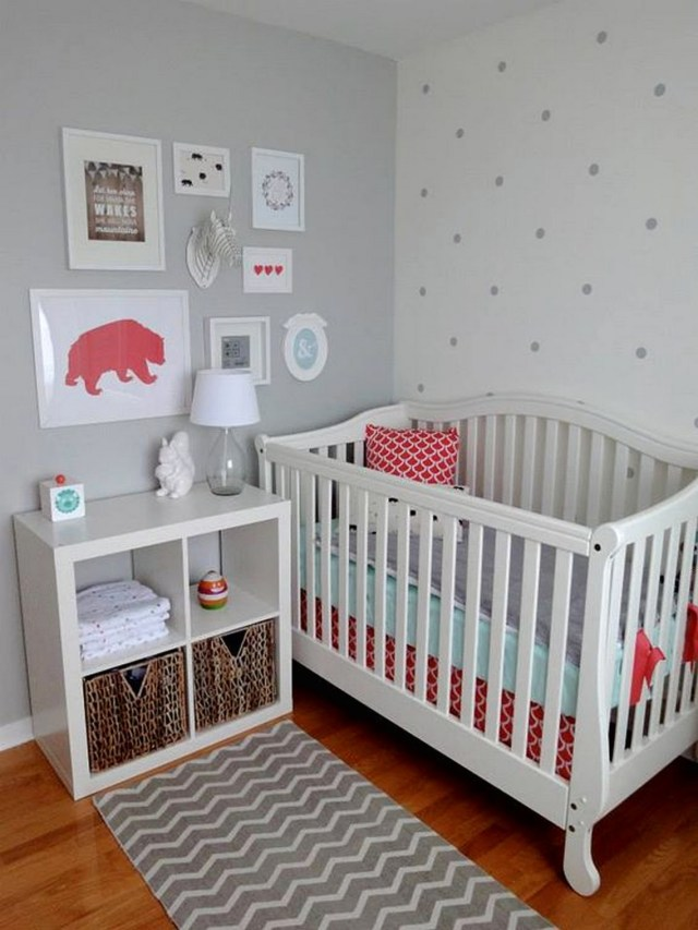Grey Polka Dot Wall Decals, Baby Room Style Ideas, Decals For Baby Rooms