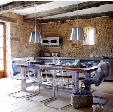 Modern Kitchen In An Old Building