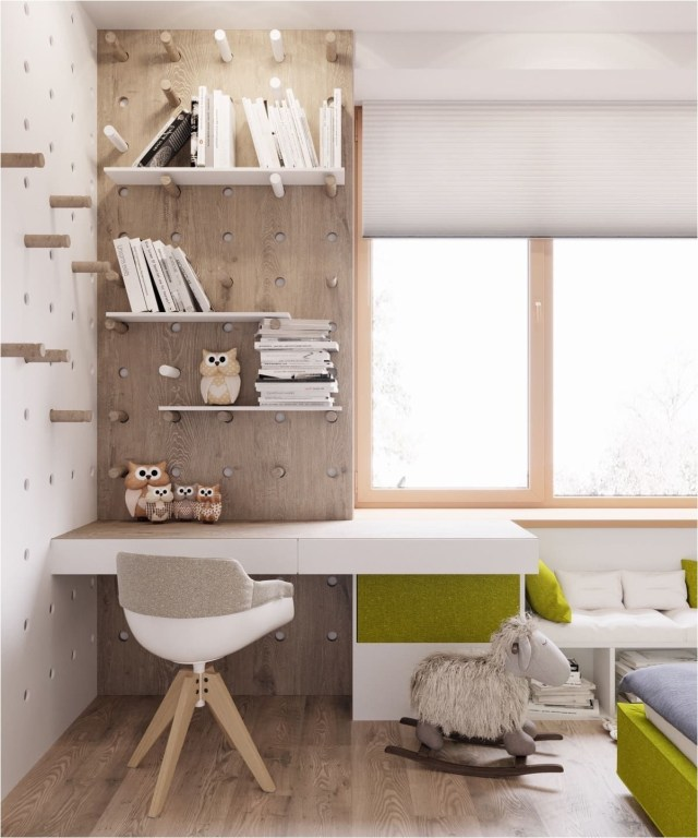 Special Design Study Desk With Floating Shelf
