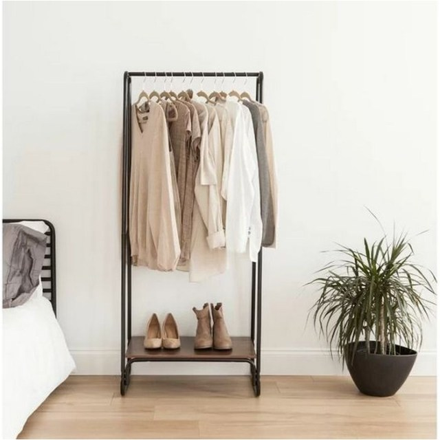 Korean Bedroom With Hanging Clothes Ideas
