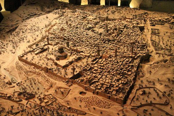 Maquette d'al-Quds dans le temps