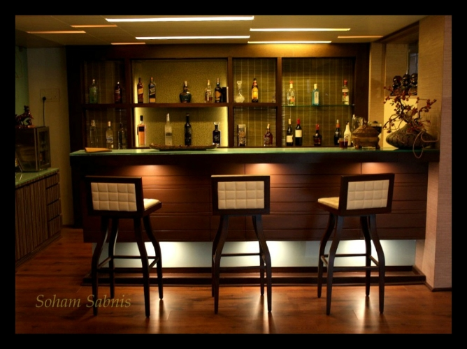 Lounge area of a Bunglow in Koregaon Park, Pune