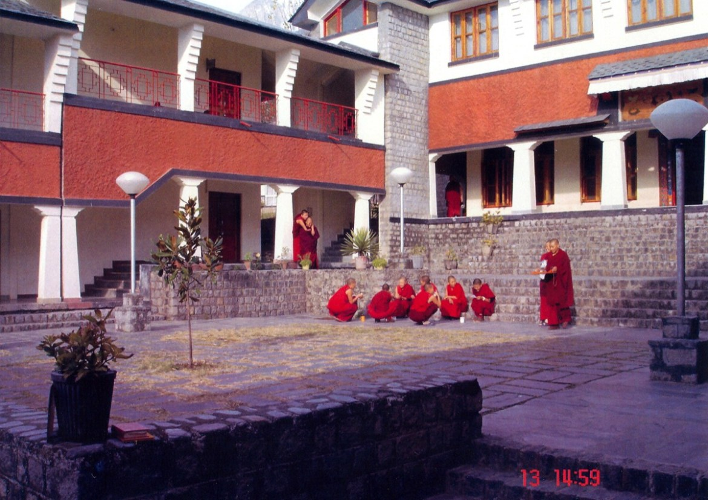 Dolma Ling Nunnery Courtyard