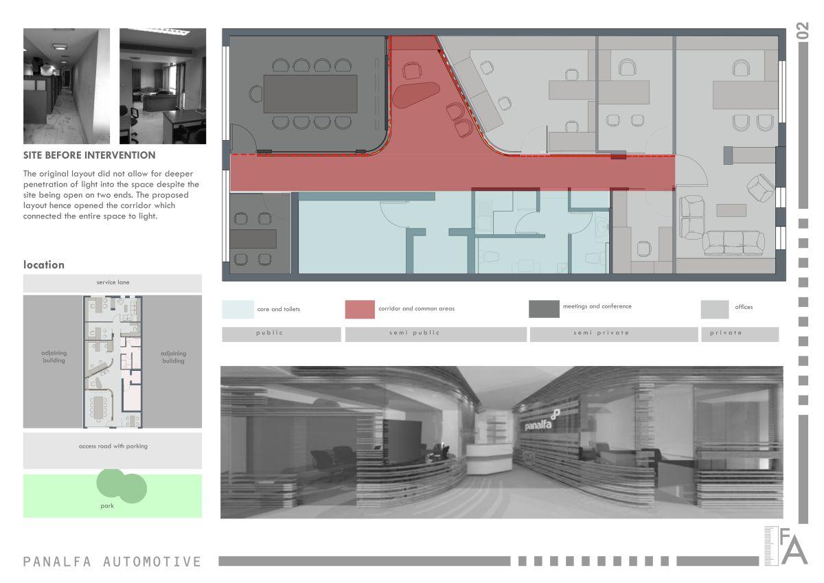 Interior Design: Panalfa Automotives - Head Office at New Delhi by Forum Architecture 5