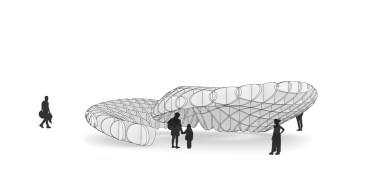 Waffle Structure as Canopy at Ahmedabad by WEsearch lab