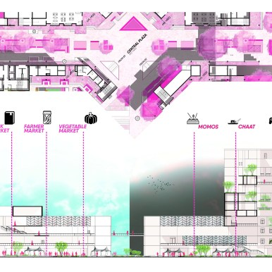 B.Arch Thesis: Urban Food Hub, INA At New Delhi by Vipanchi Handa, SCHOOL OF PLANNING AND ARCHITECTURE, DELHI