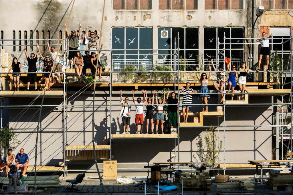 Level Up - An outdoor multi level social space at EASA Croatia, 2018 146