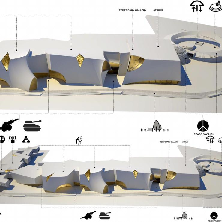 Shortlisted Competition Entry: National War Museum at New Delhi, by Collaborative Architecture 14