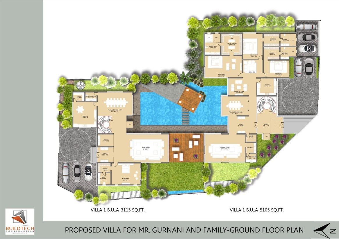 2014.05.10-GURNANI VILLA-ground floor plan