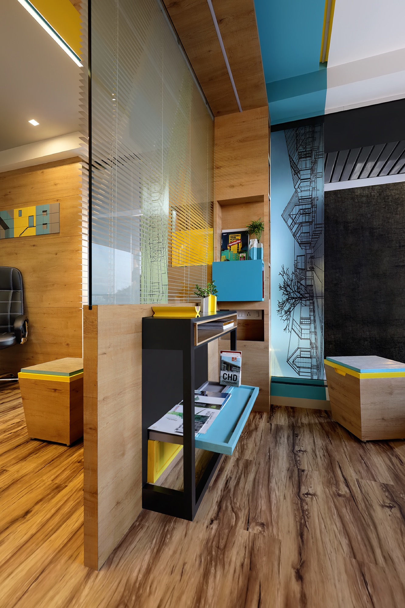 Adaptable furniture that defines the office space, designed by Manoj patel Design Studio 7