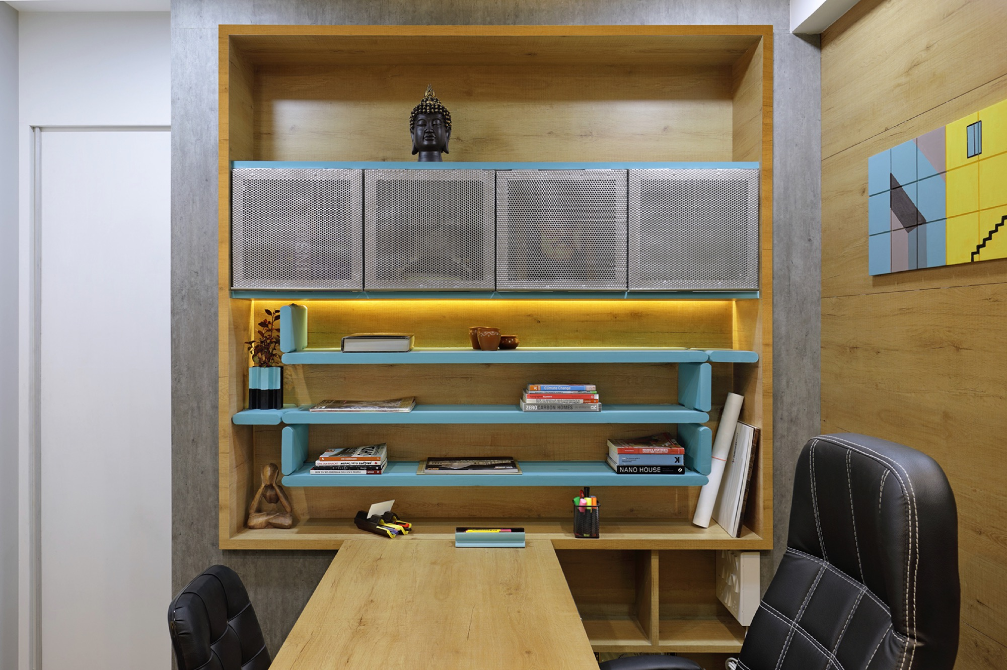 Adaptable furniture that defines the office space, designed by Manoj patel Design Studio 9