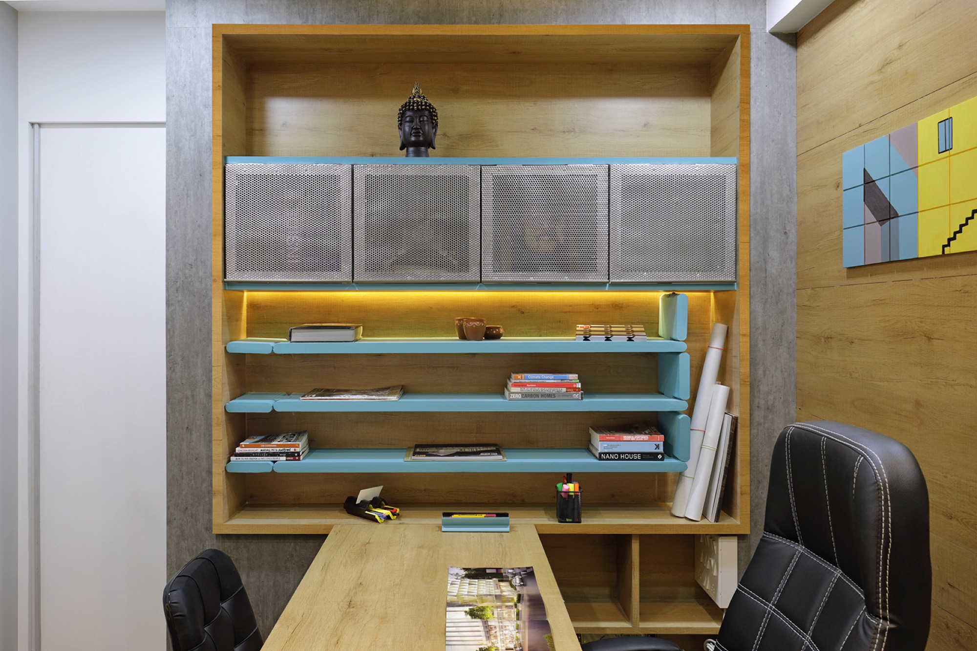 Adaptable furniture that defines the office space, designed by Manoj patel Design Studio 11